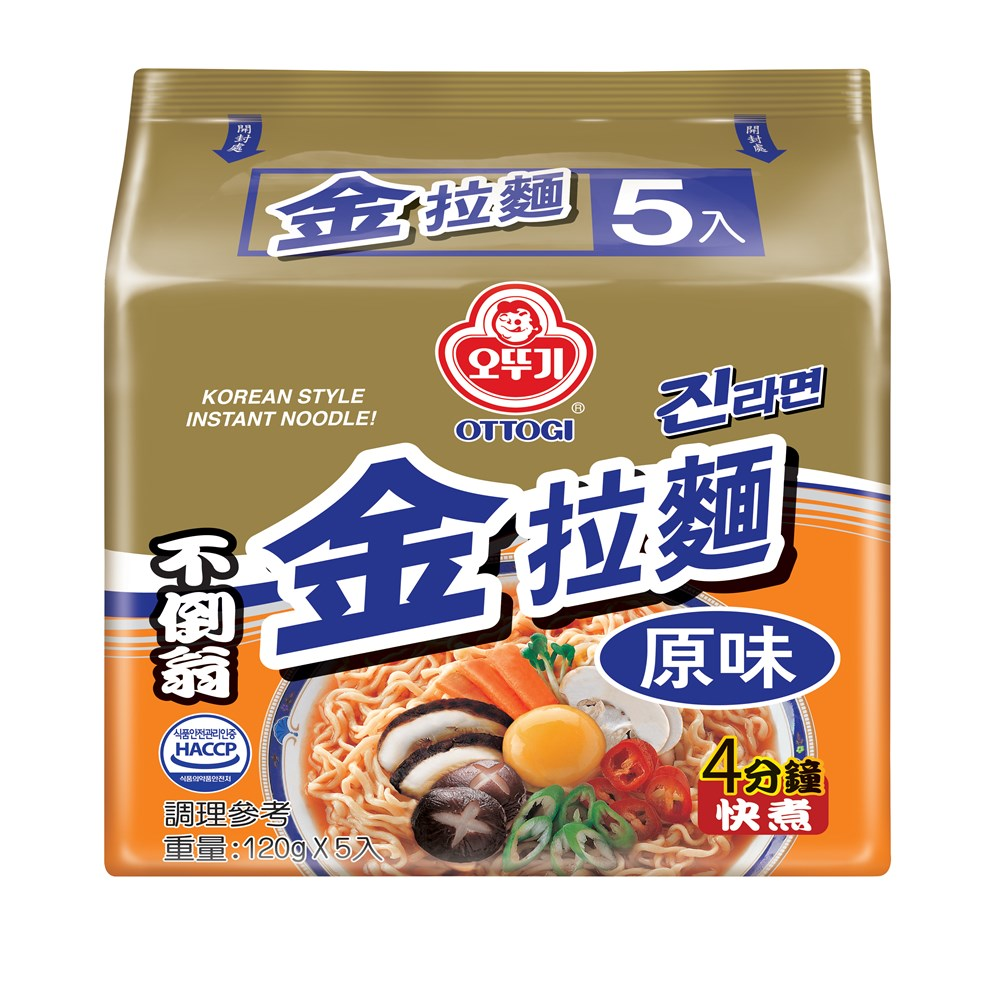 OTTOGI不倒翁 金拉麵 原味(120gx5入)