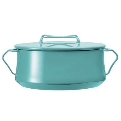 DANSK 琺瑯雙耳燉煮鍋-26cm(藍綠色)