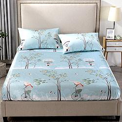 Grace Life 快樂小象 單人可水洗涼感絲床包兩件組