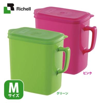 日本Richell 手提式密封 上掀食物保鮮儲糧桶 - M