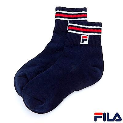 FILA 基本款半毛巾短襪-丈青 SCS-1001-NV