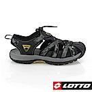 LOTTO 義大利 男 護趾運動涼鞋(迷彩黑)