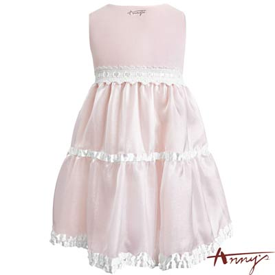 Annys高級金莎閃閃緞質蕾絲洋裝*7147粉