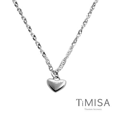 TiMISA《鈦真心(M)》純鈦項鍊(10E)