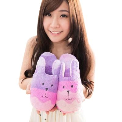 CRAFTHOLIC 宇宙人 手染漸層兔子室內拖鞋