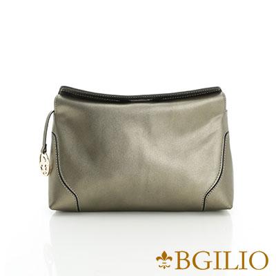 義大利BGilio-熱銷優雅簡約小側肩背包-金屬灰