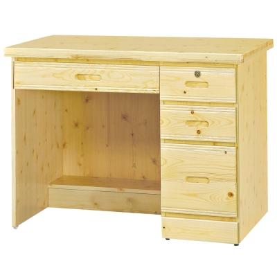 愛比家具 經典松木實木3.2尺書桌