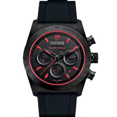 TUDOR 帝舵 FASTRIDER  42000CR 黑色計時腕錶-42mm
