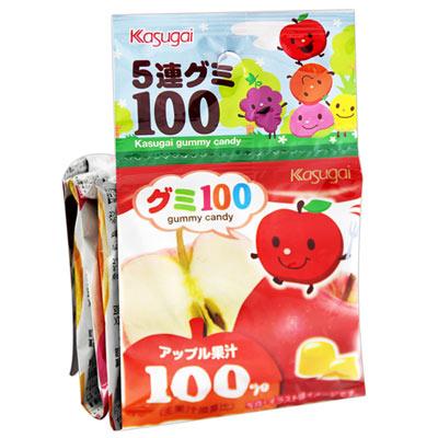 春日井 5連水果軟糖(115g)