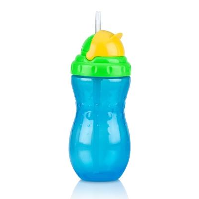 Nuby 流線型吸管杯(細吸管)420ml-藍(18m+)