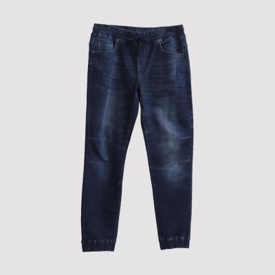 Hang Ten - 男裝 - 抽繩束口針織牛仔褲 -深藍