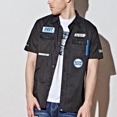 襯衫-布章工作短袖襯衫-2色-CACO