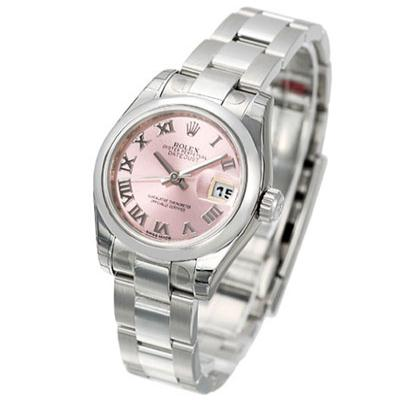 ROLEX 勞力士 Datejust 179160 蠔式恆動日誌型腕錶 -羅馬粉紅面/26mm