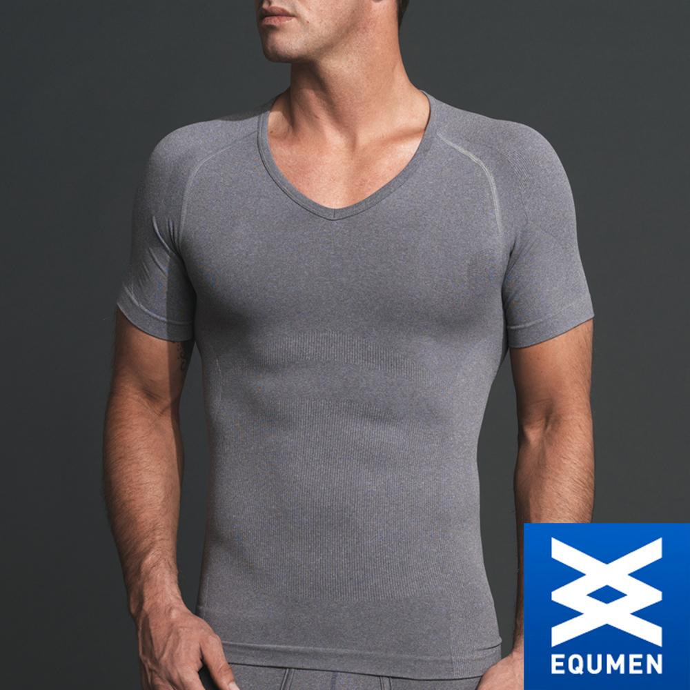 EQUMEN 精緻型男塑身衣-短袖[灰]