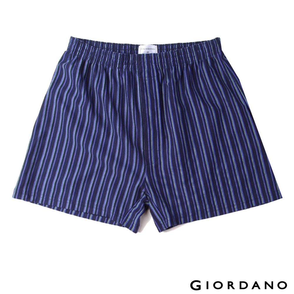 GIORDANO高品味沉穩條紋配色四角褲(67深藍)-01170004 @ Y!購物