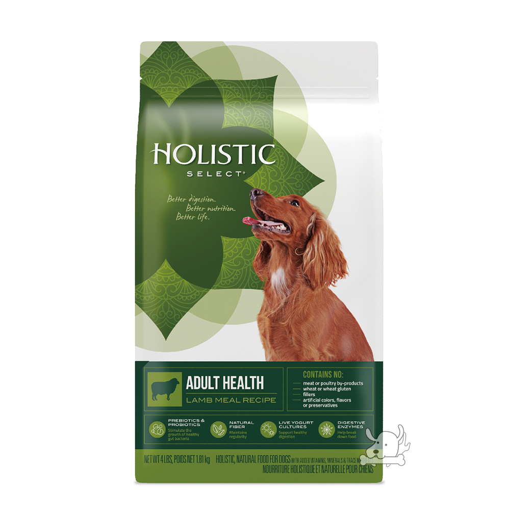 Holistic Select 活力滋 成犬 羊肉低敏除臭配方 4磅 X 1包