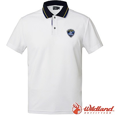 Wildland 荒野 0A61616-30白色 男Coolmax排汗POLO衫