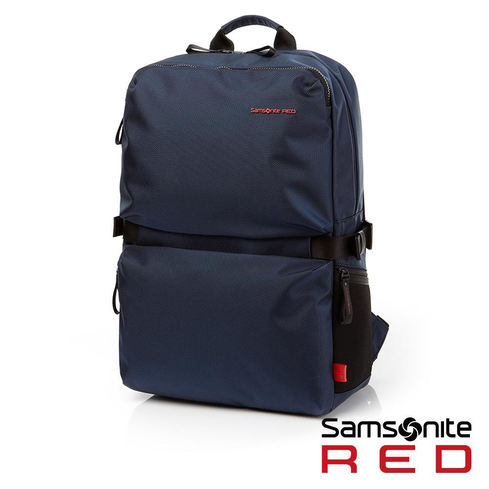 Samsonite RED CLOVEL 造型潮流中性休閒筆電後背包-L17吋(海軍藍)