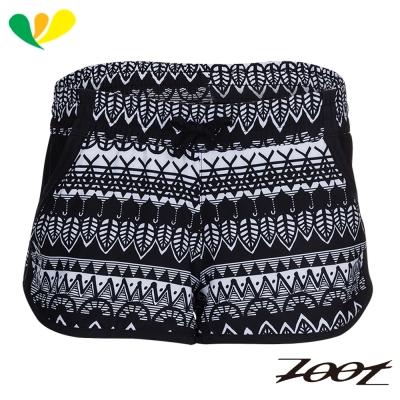 ZOOT 頂級極致冰涼感2吋綁帶式跑褲(女)(圖紋黑) Z1704011