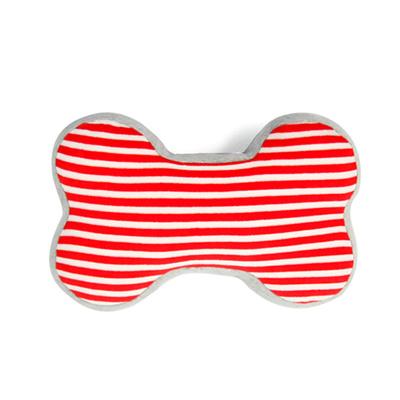 Yvonne-條紋骨頭車用頸部抱枕-紅