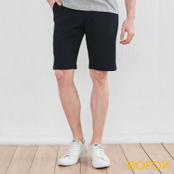 BOFOX 素面休閒短褲-黑