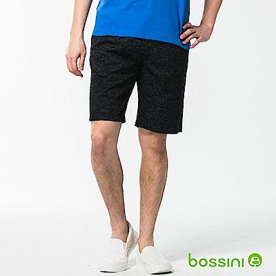 bossini男裝-印花輕便短褲03黑