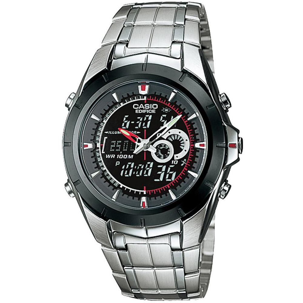 CASIO 疾速龍捲風雙顯多時區錶( EFA-119BK-1A)-黑框黑面/40.1mm
