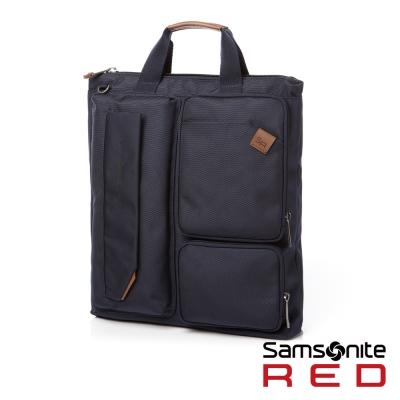 Samsonite-RED-CINIS-多袋式輕盈肩背包-S-海軍藍