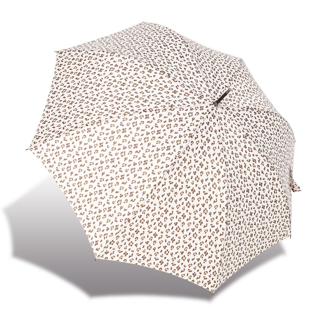 RAINSTORY微漾豹紋抗UV自動開直骨傘