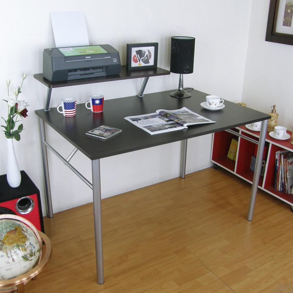 頂堅(桌面60x120cm)書桌(附Z型桌上架80cm/二色)