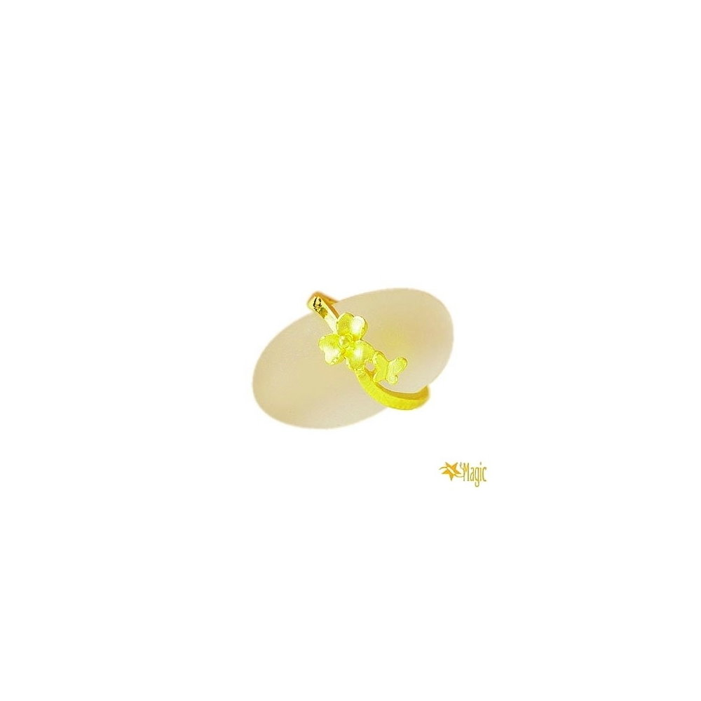 【Magic魔法金】花與蝶尾戒