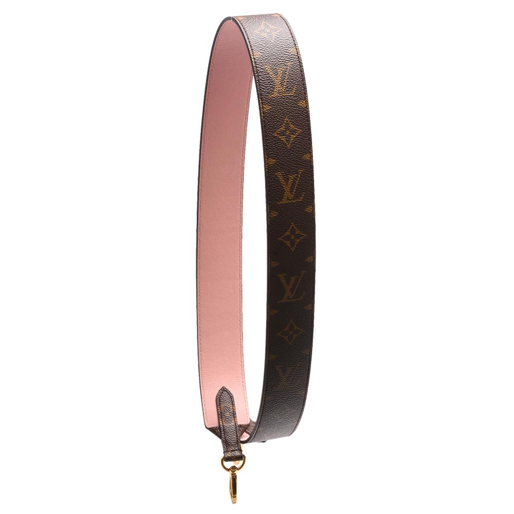 LV J02330經典Bandouliere帆布小牛皮襯裡肩背帶玫瑰粉
