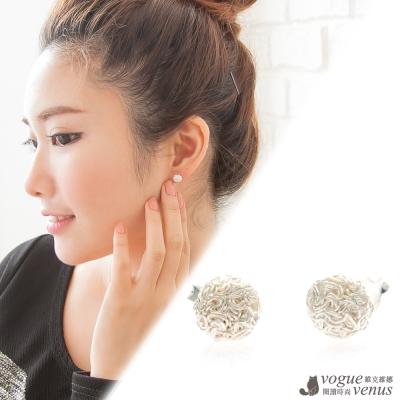 維克維娜 迷人典藏。不規則紋路小半圓貼耳耳環