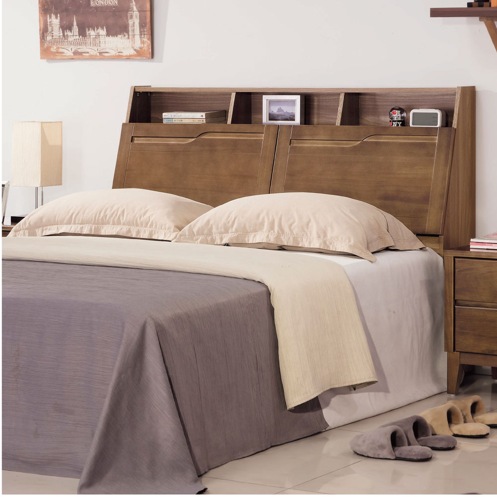 品家居 恩利5尺實木雙人床頭箱 151.5x28x108.2cm 免組