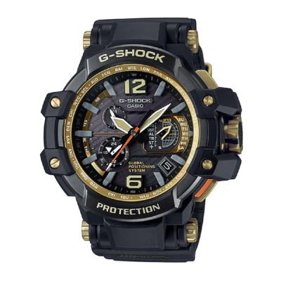 G-SHOCK世界首款同步搭載高性能GPS電波錶-黑金(GPW-1000GB-1A)-56mm