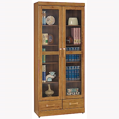 H&D 柚木3.5尺下抽書櫥 (寬81.5X深39X高196.2cm)