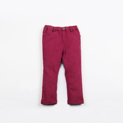 PIPPY 舒適百搭彈性長褲 紅