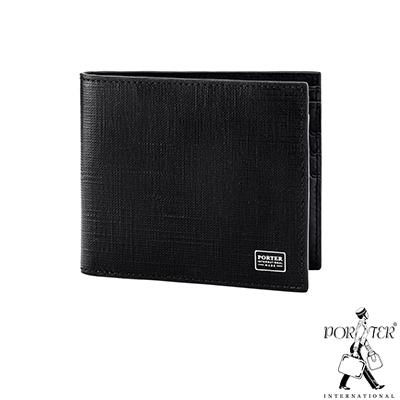 PORTER - 高貴風尚LOFTY橫式皮夾 - 黑