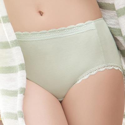 華歌爾-環保i-earth健康竹纖維M-LL中高腰三角褲-竹纖綠