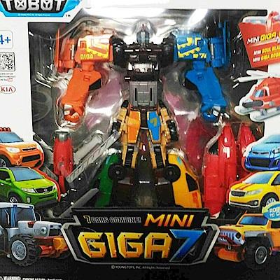 任選TOBOT MINI GIGA7中型 超級冒險機器戰神7機合體 機器戰士 原廠公司貨