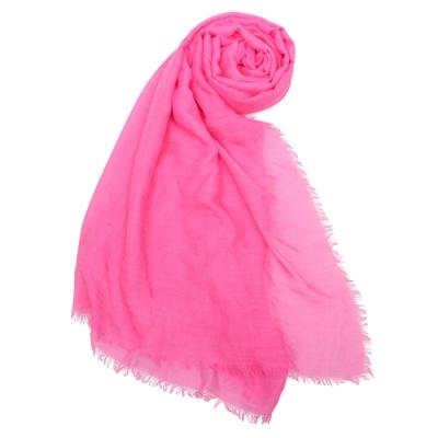 COACH經典馬車LOGO披肩圍巾-粉紅色