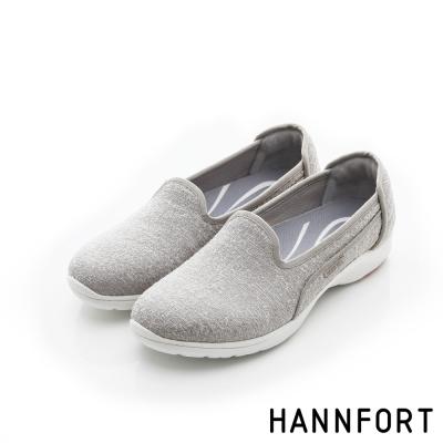 HANNFORT EASY WALK輕盈針織動能氣墊健走鞋-女-輕盈灰