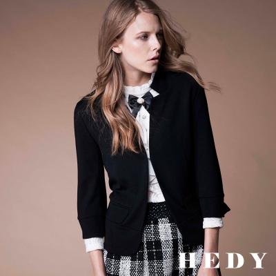 Hedy赫蒂 七分袖短版西裝外套(黑色)