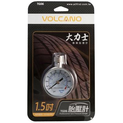 [快]VOLCANO大力士專業胎壓計1.5吋TG06
