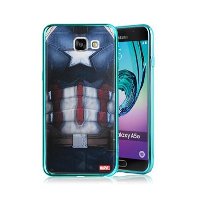 漫威正版 三星Galaxy A5(2016) 美國隊長3 彩繪電鍍手機殼(隊長裝...