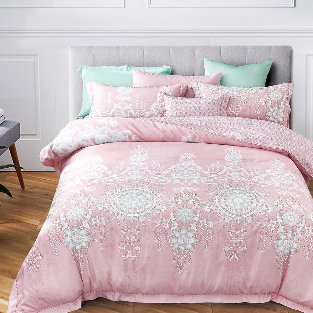Ania Casa 夢時光 涼感天絲 採3M吸溼排汗專利 雙人鋪棉兩用被床包組