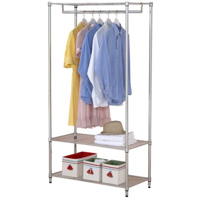 【克諾斯】90*45*180三層單桿衣櫥架