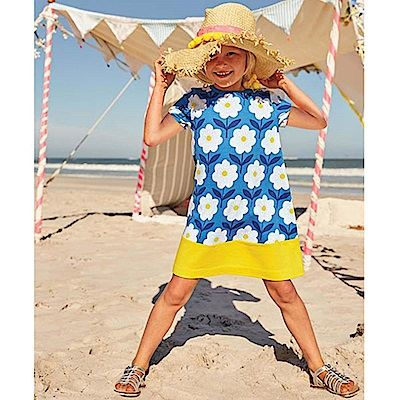 歐美春夏純棉兒童短袖洋裝-小雛菊