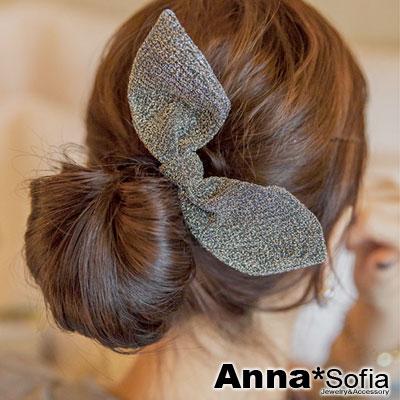 【3件480】AnnaSofia 銀閃星點兔耳 純手工彈性髮束髮圈髮繩