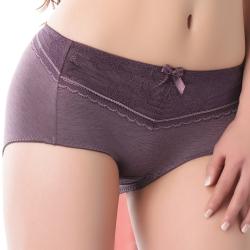思薇爾 舒棉Bra系列中低腰平口褲(紫褐色)